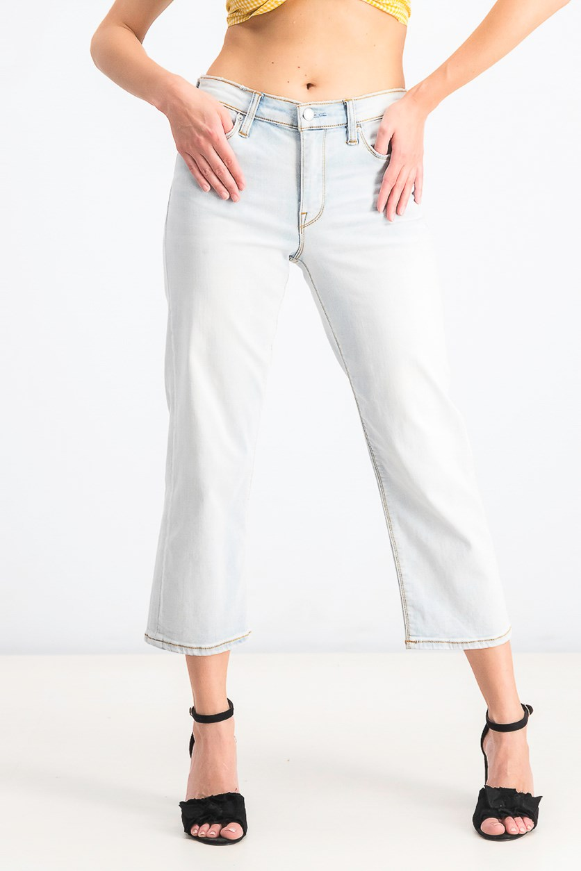 Women's Straight-Leg Cropped Jeans, Wake