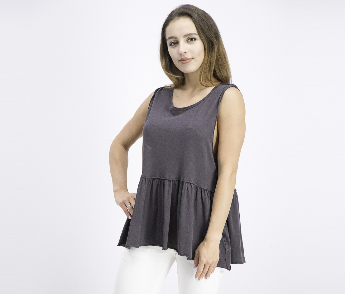 Women's Anytime Tank Top, Washed Black/Grey