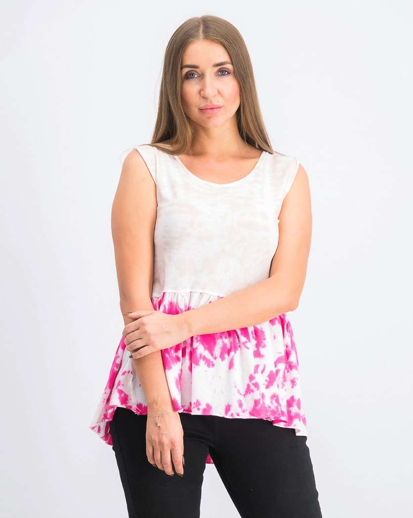 Women's Anytime Ombre Babydoll Tank Top, Hot Hibiscus Combo