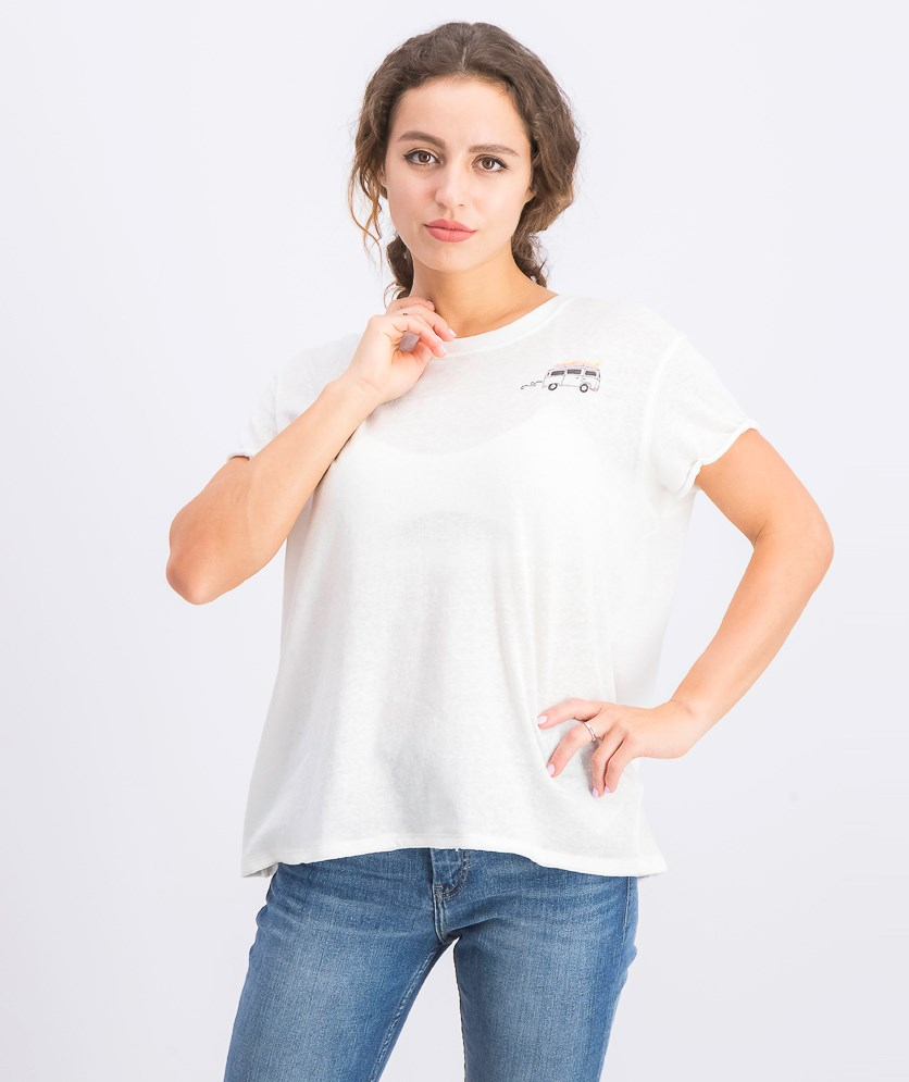 Women's Graphic Wipeout Tee, Ivory Combo