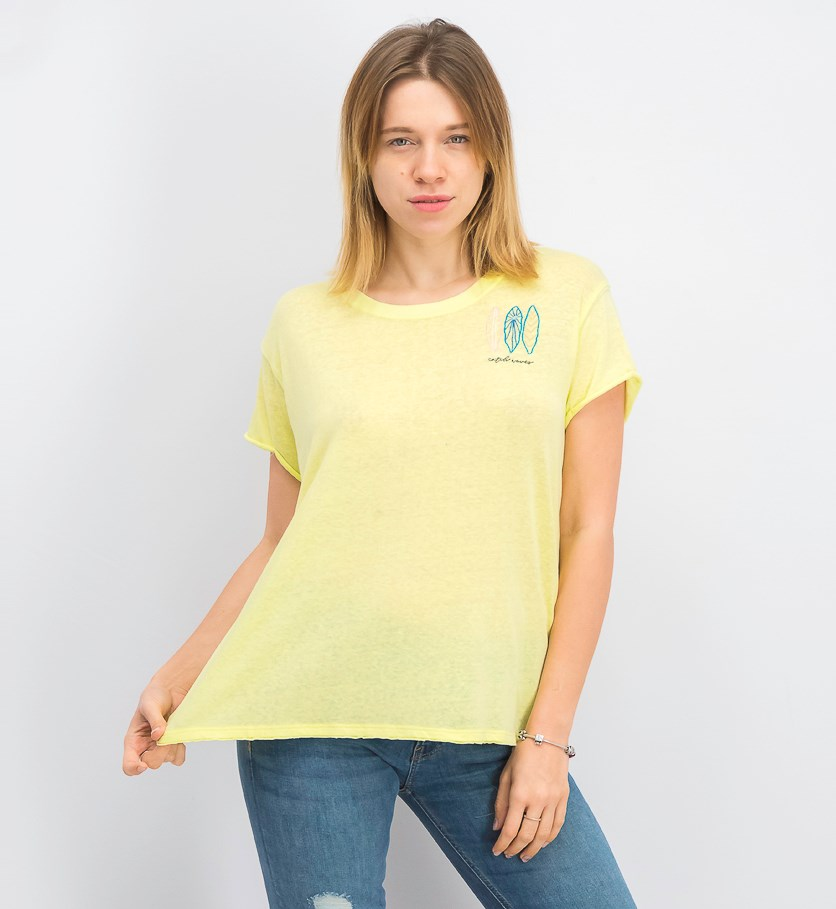 Women's Wipe Out Graphic Tee, Lime Combo