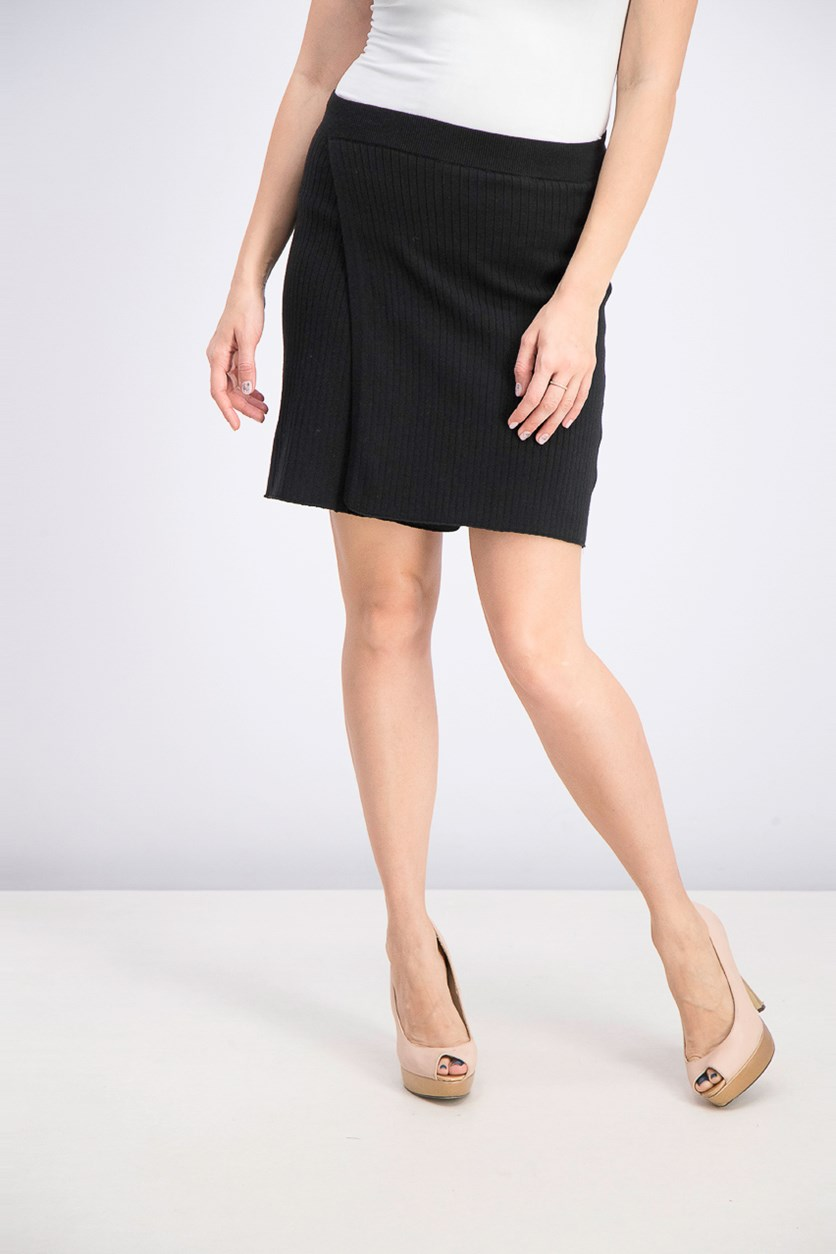 Women's Mod Wrap Skirt, Black