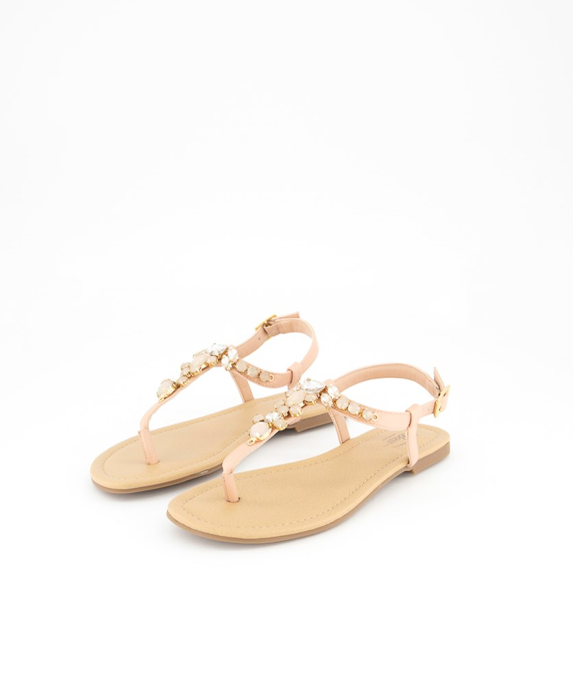 Women's Layla Textured Sandals. Blush