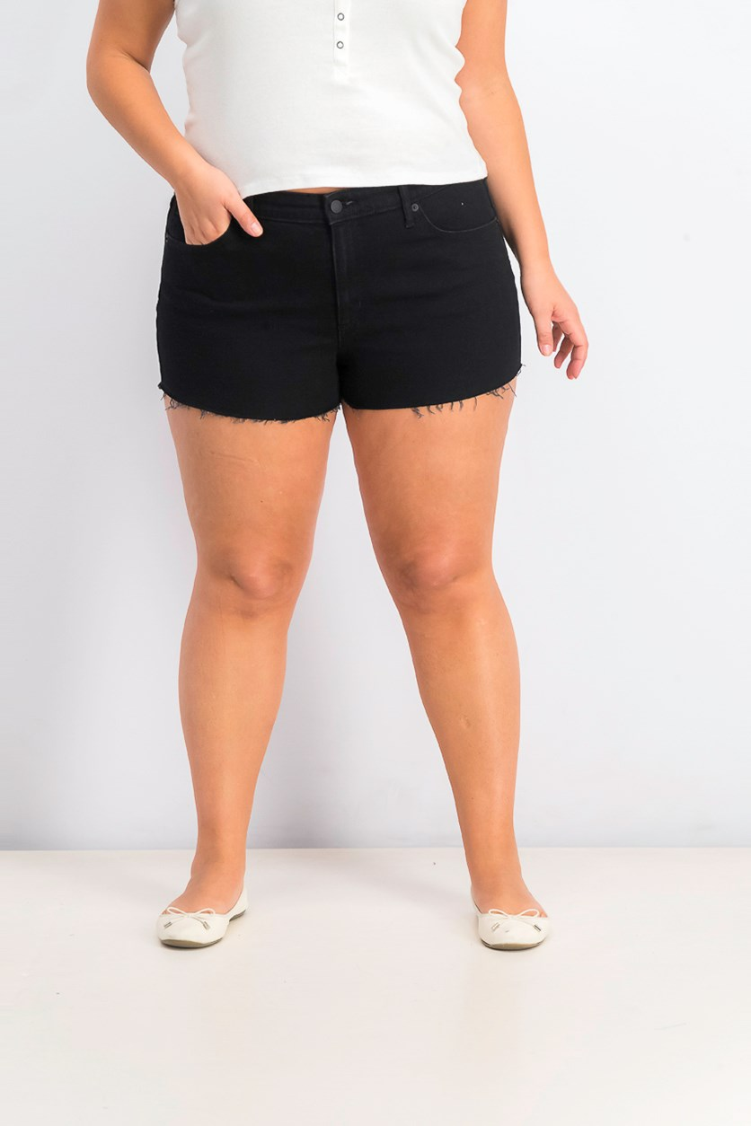 Women's Five Pocket Denim Short, Black