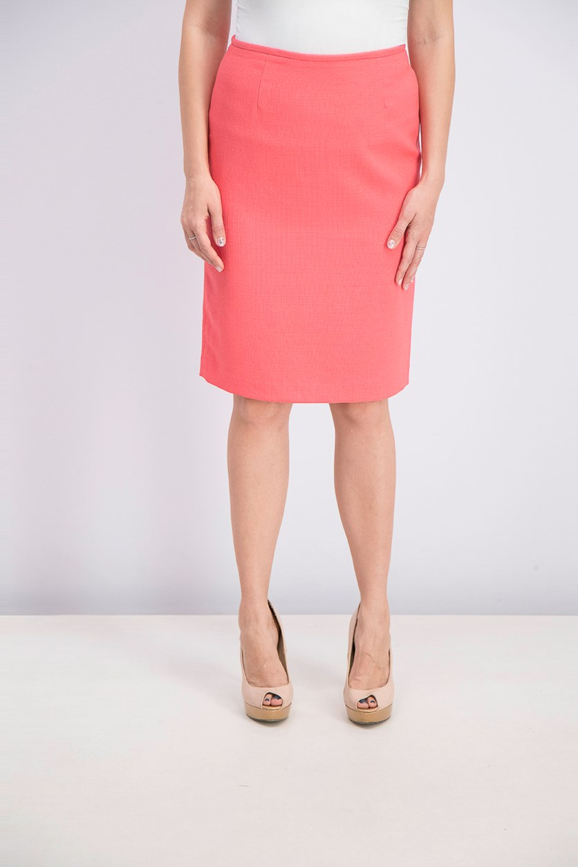 Women's Zip Back Skirt, New Coral