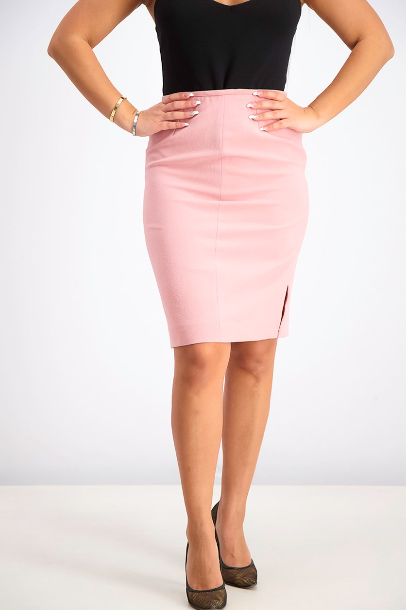Women's Petite Pencil Skirt, Pink