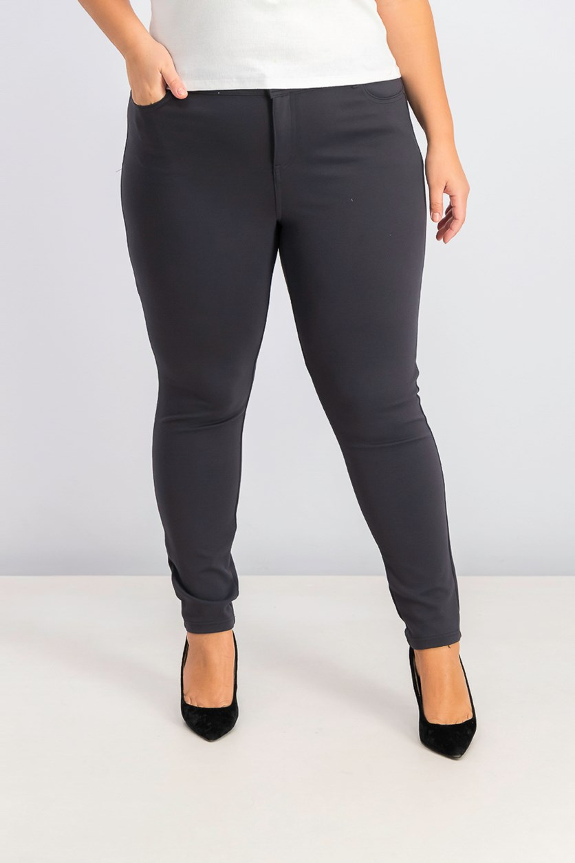 Womens Pull On Pants, Carbon Grey