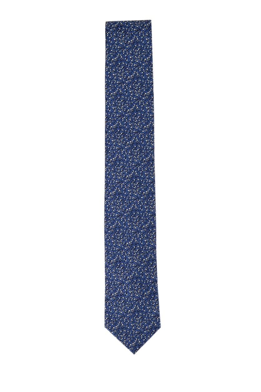 Mens Chester Floral Tie, Blue Combo