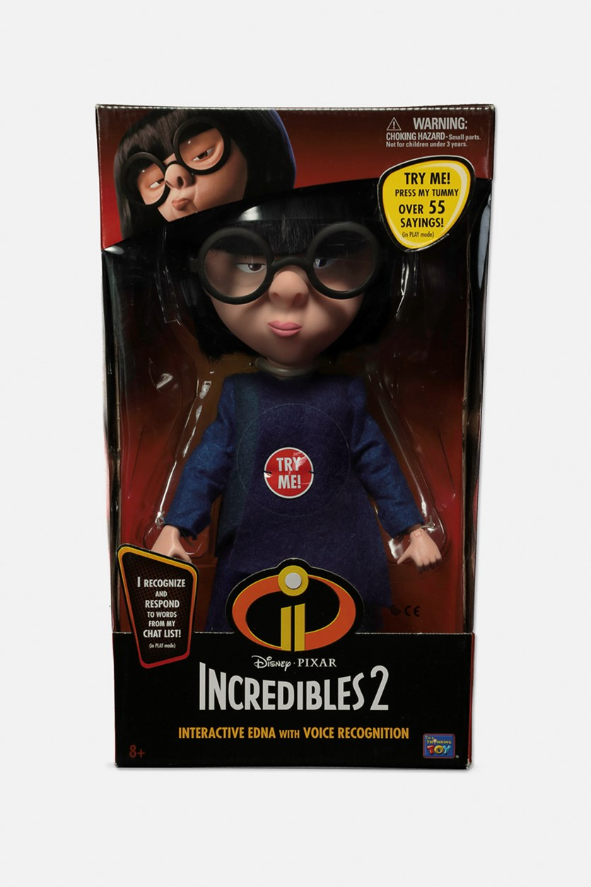 Interactive Edna Action Figure With Voice Recognition, Red/Black