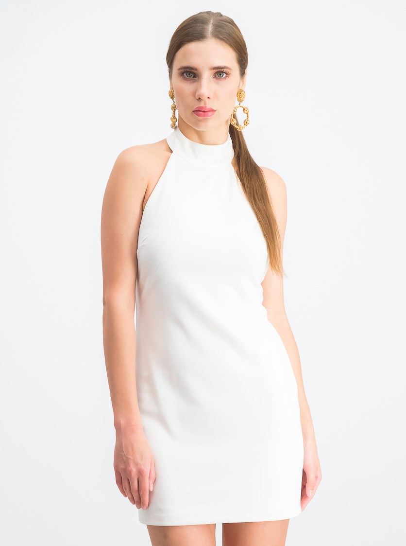 Womens Juniors' Bodycon Dress, Off White