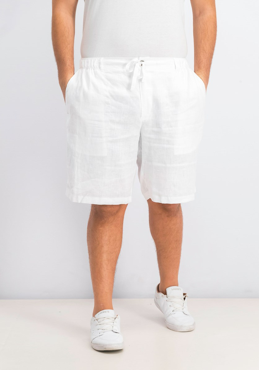 Men's Drawstring Shorts, White