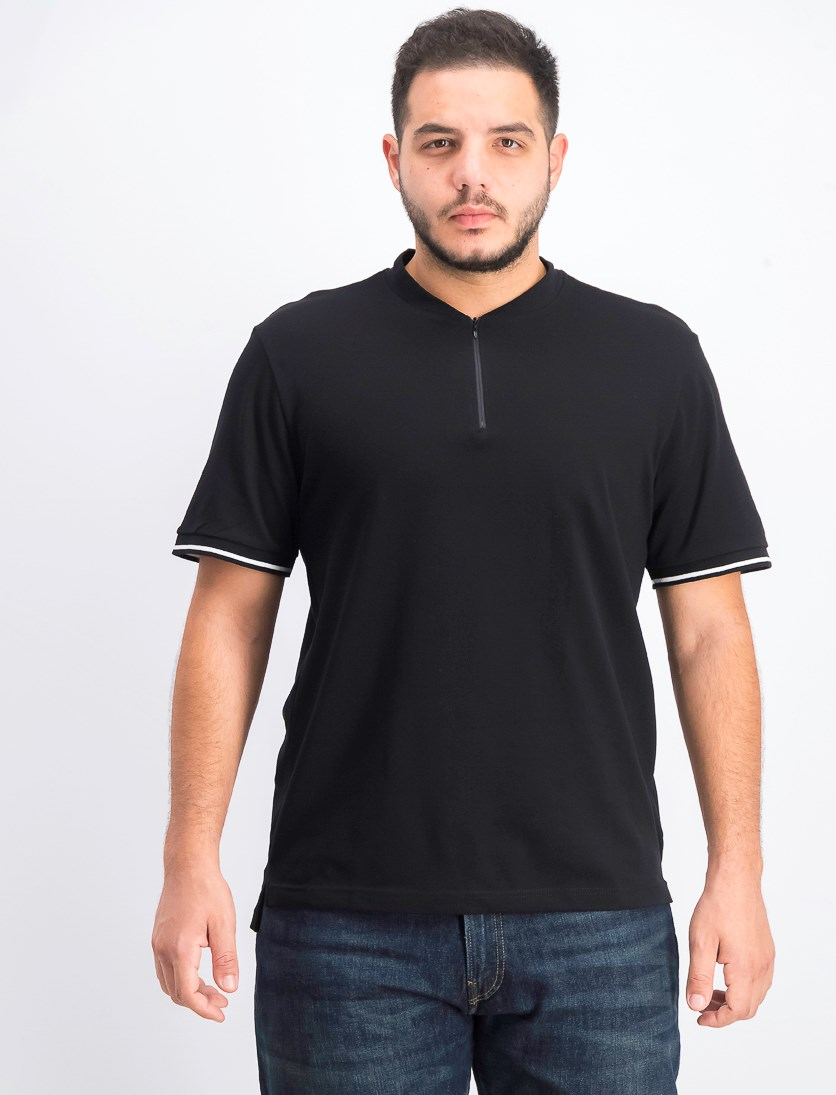 Men's New York Short-Sleeve Zip Tee, Black