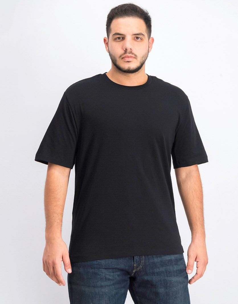Men's Solid Short Sleeve T-Shirt, Black