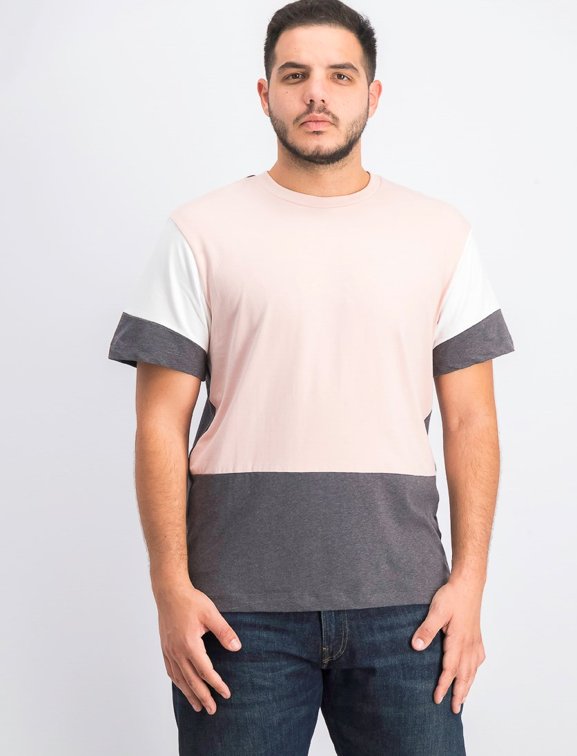 Men's Colorblocked T-Shirt, Rose Smoke