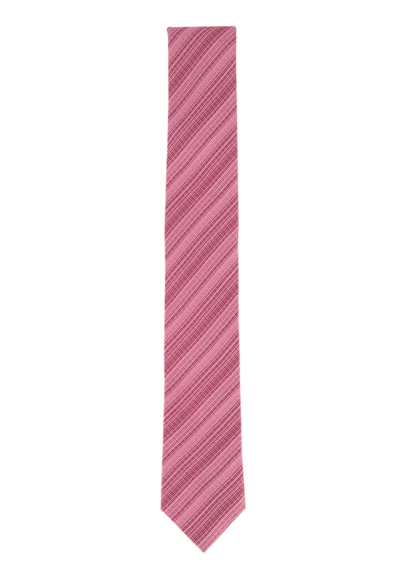 Mens Ombre Mirror Plaid Tie, Pink