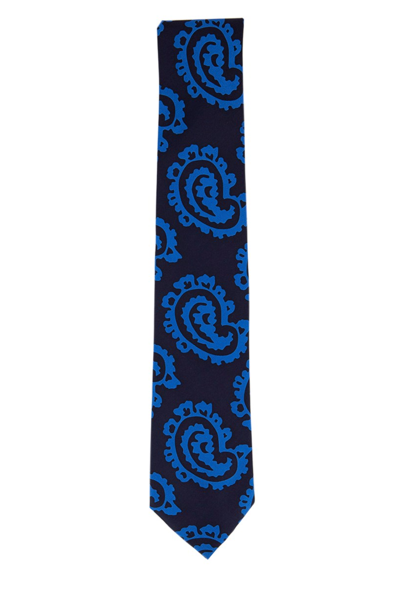 Men's Printed Neck Tie, Navy/Blue