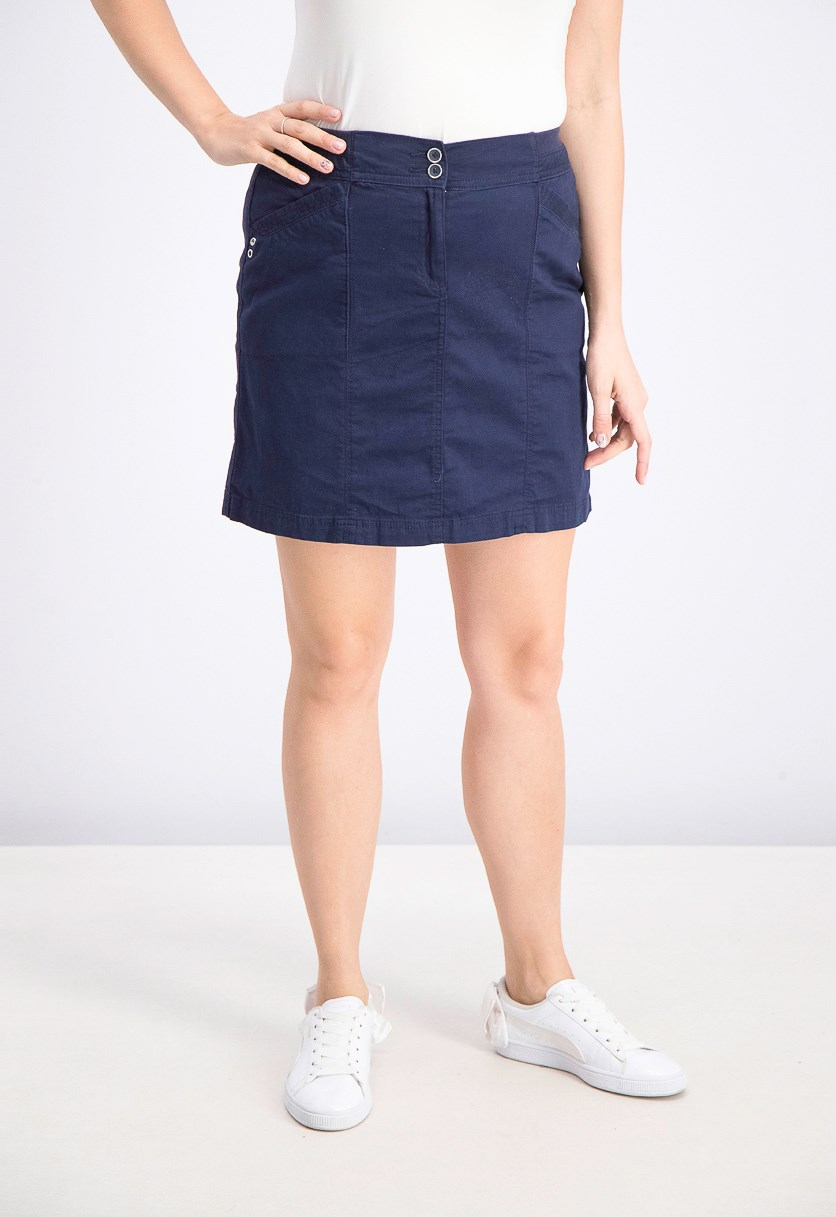 Women's Petite Stretch Skort, Intrepid Blue
