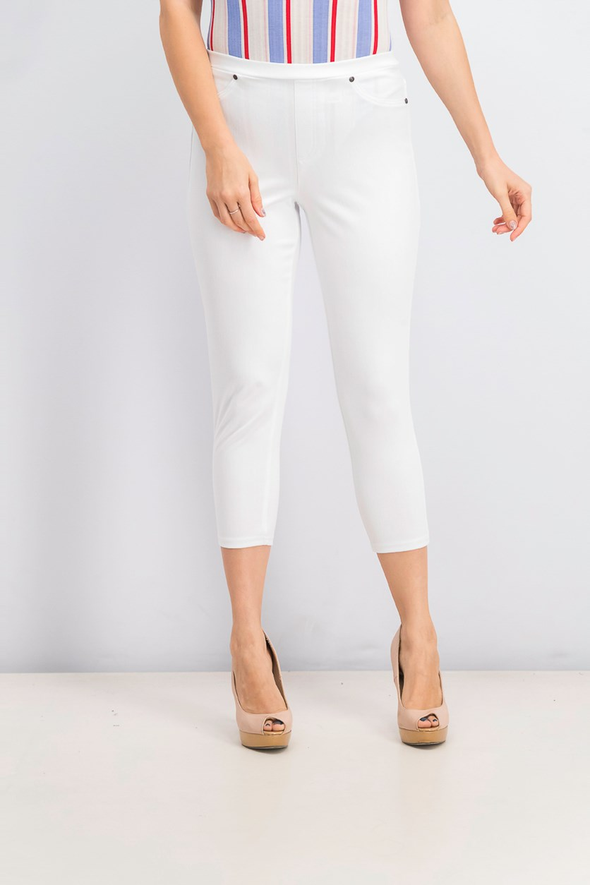 Women's Pull-On Capri Leggings, Bright White
