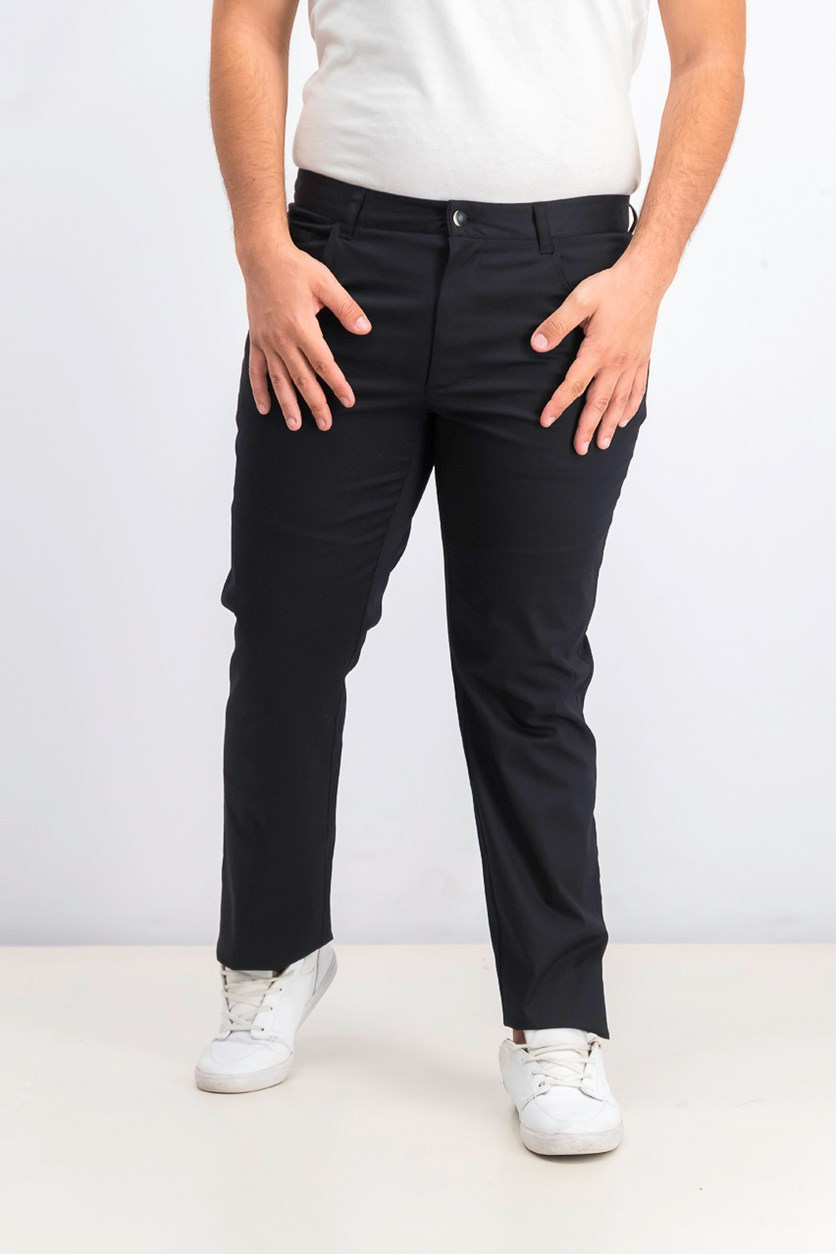 Men's Slim Fit Stretch Pants, Black