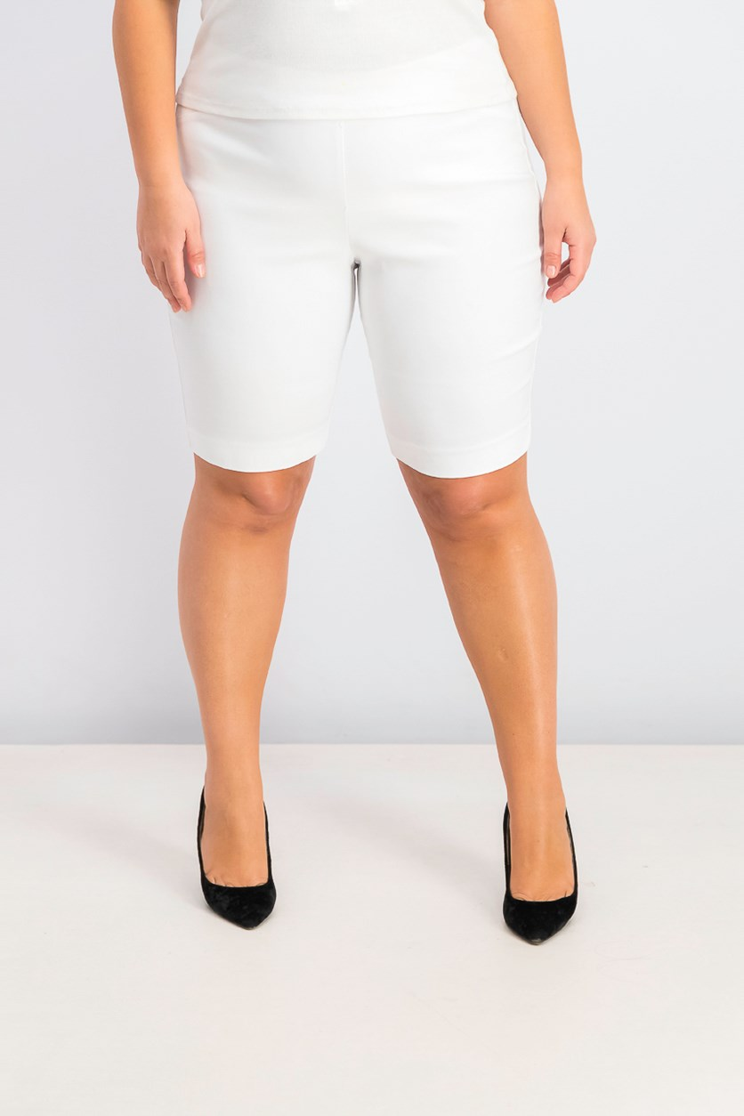Women's Pull-On Bermuda Shorts, White