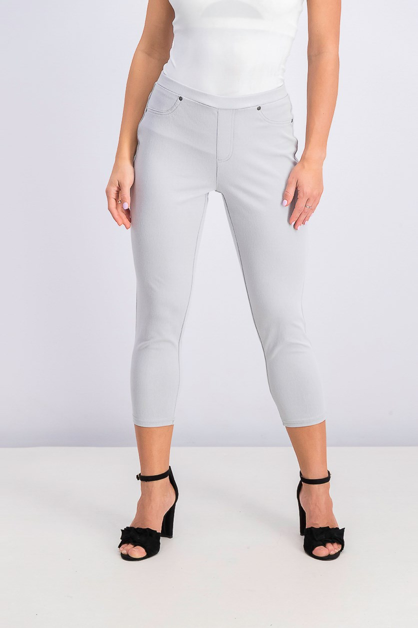 Women's Pull-On Capri Leggings, Misty Harbor