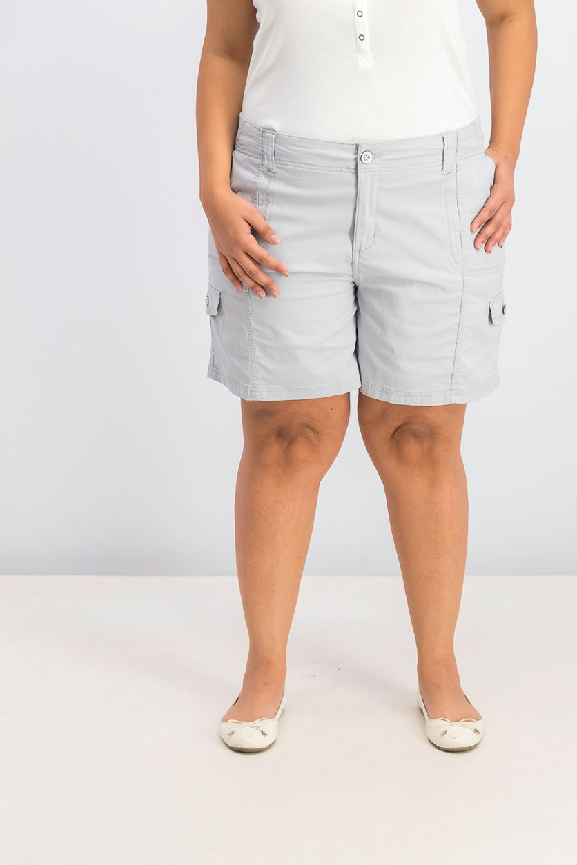 Women's Comfort-Waist Cargo Shorts, Misty Harbor