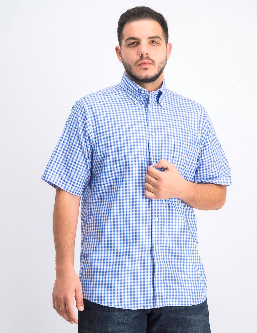 Men's Regular Fit Button Down Shirt, Cobalt