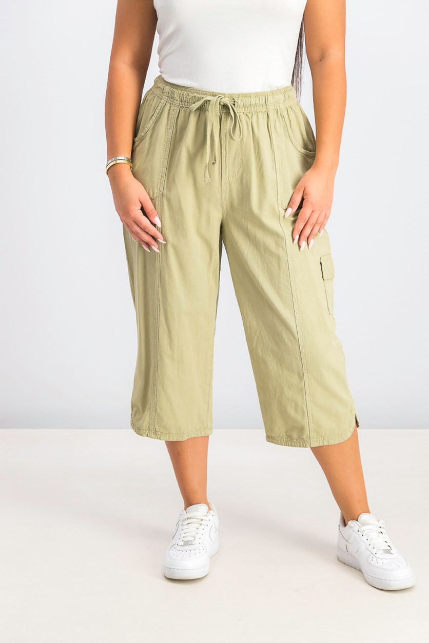 Women's Cotton Cropped Pants, Willow