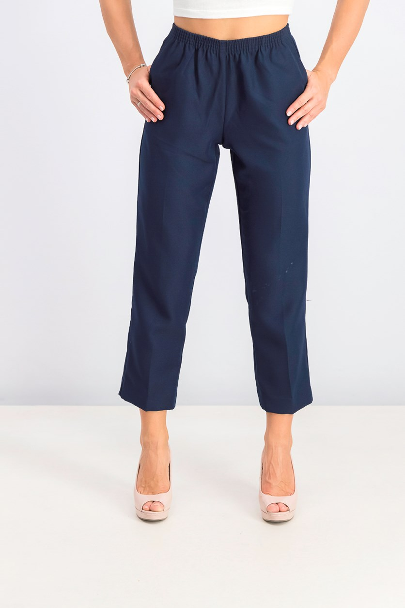 Women's Petite Pull-on Pants, Intrepid Blue