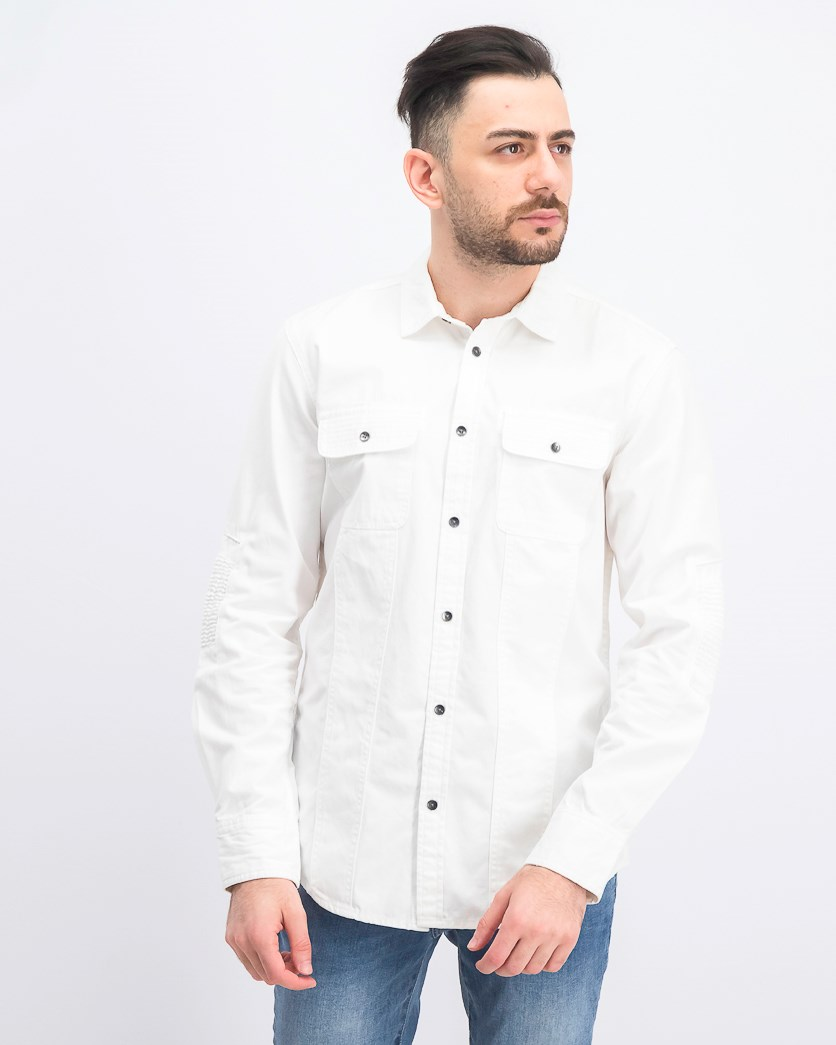 Men's Parker Moto Shirt, White