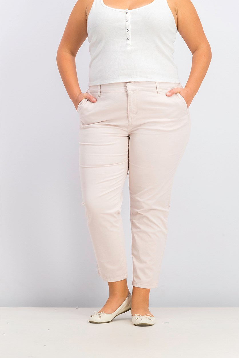 Women's Chino Pants, Pink Sand