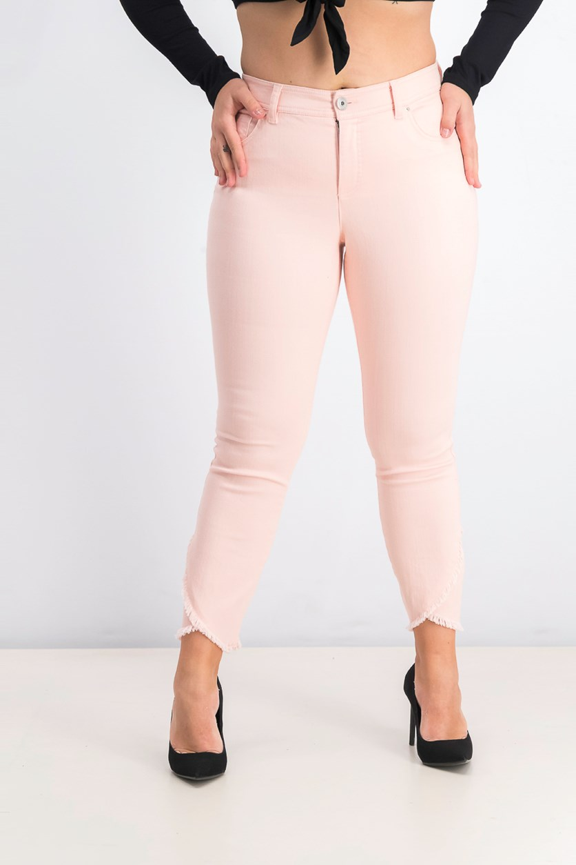 Women's Tulip-Hem Skinny Ankle Jeans, New Pale Blush