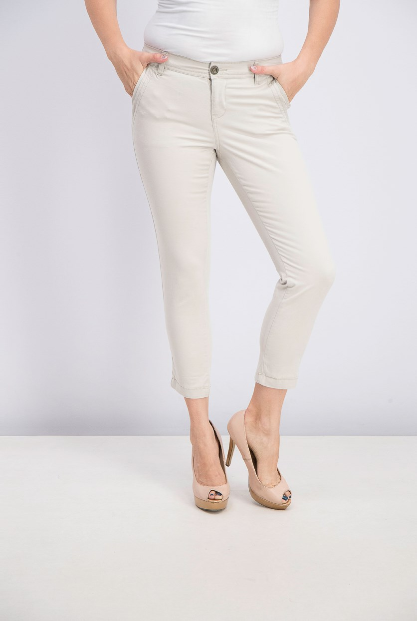 Women's Petite Slim Ankle Pants, Stone Wall