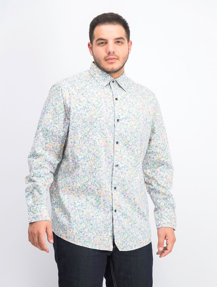 Men's Beraco Floral Graphic Shirt, Sage Combo