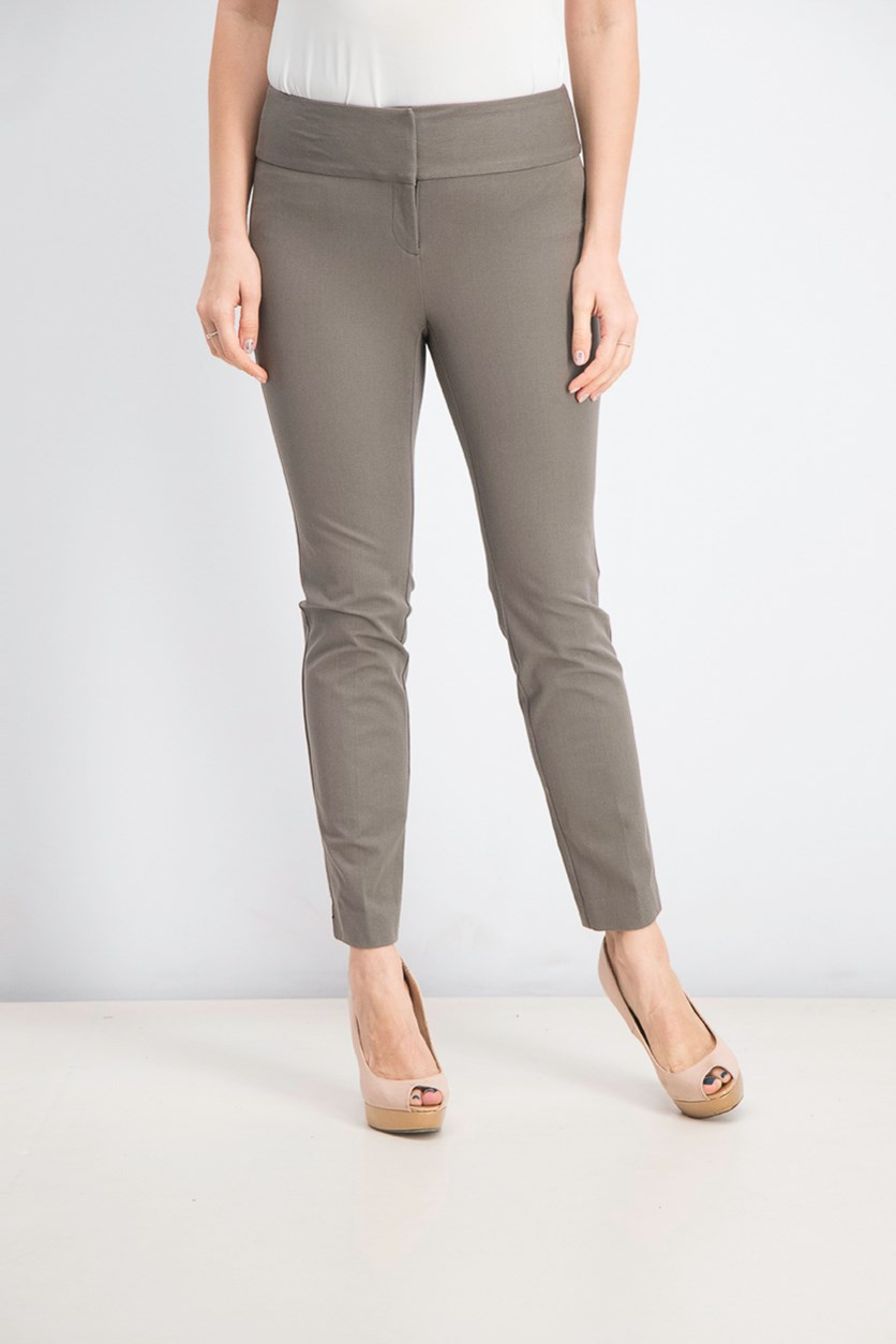 Women's Petite Slim Pants, Polished Clay