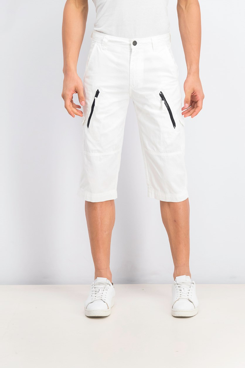 Mens Michael Messenger Shorts, White Pure