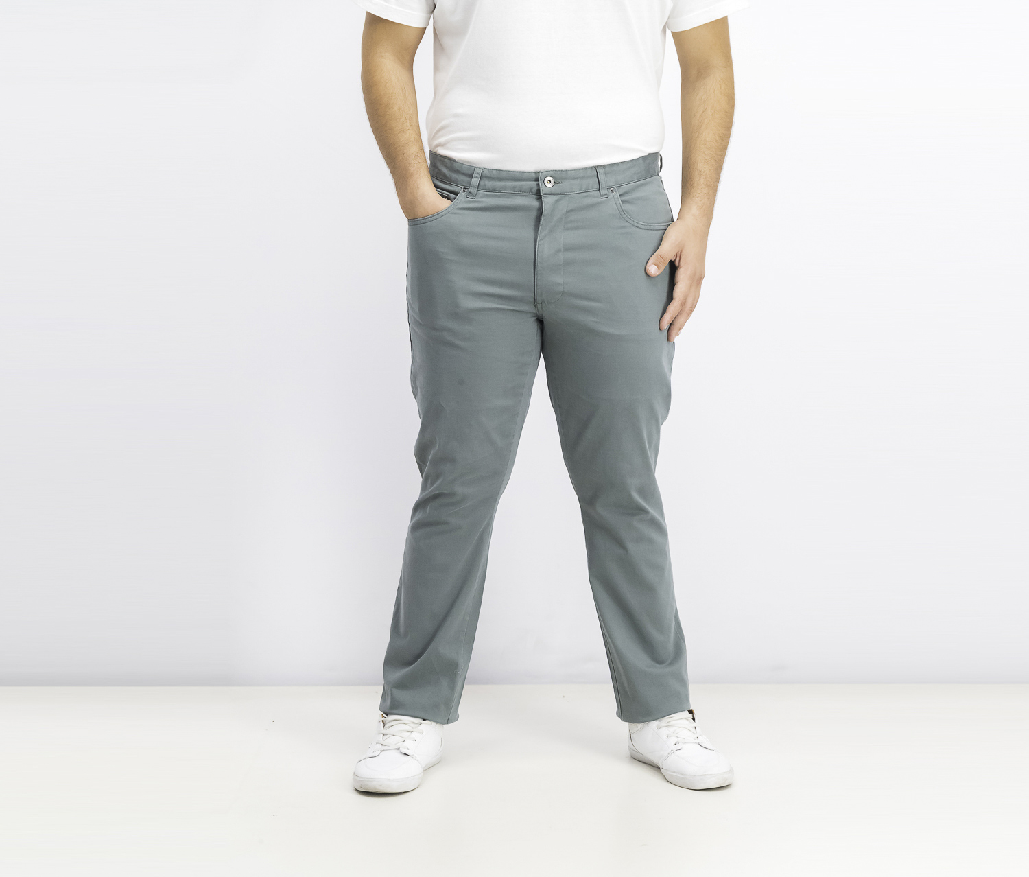 Men's Straight-Fit Stretch Pants, Everard Green