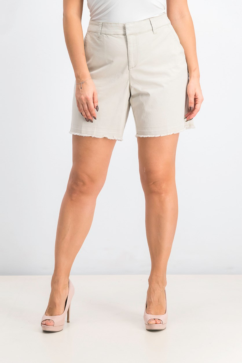 Women's Released-Hem Relaxed-Fit Shorts, Stone Wall