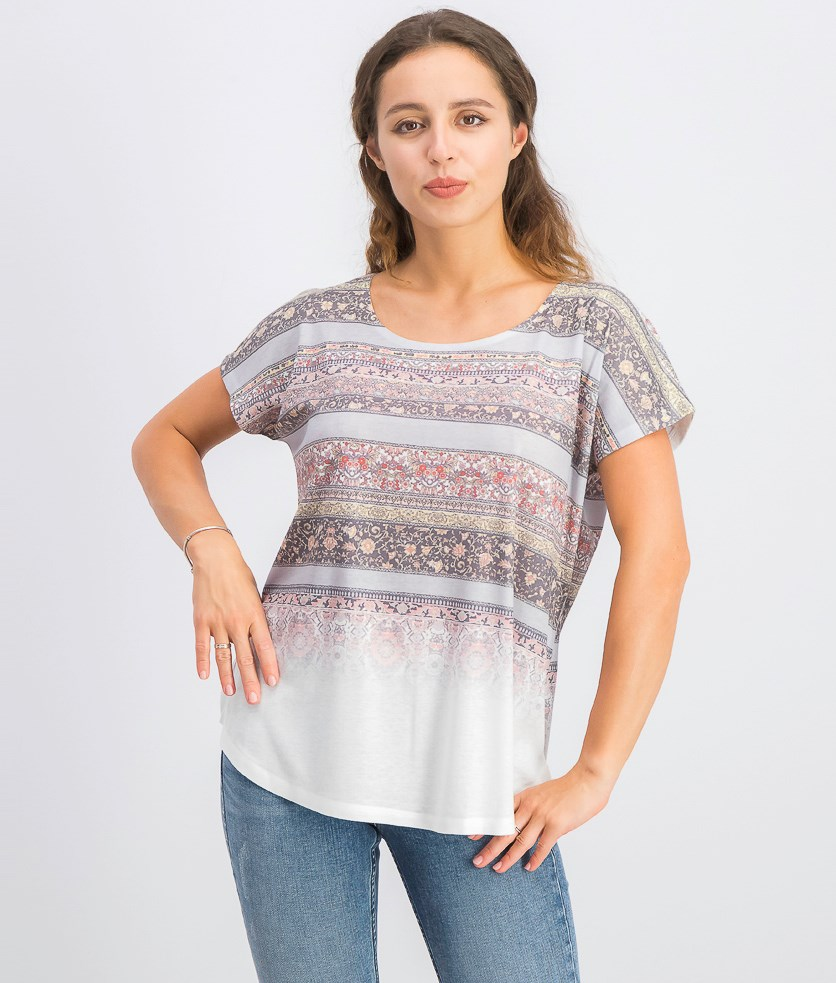 Women's Printed T-Shirt, Splitting Bound