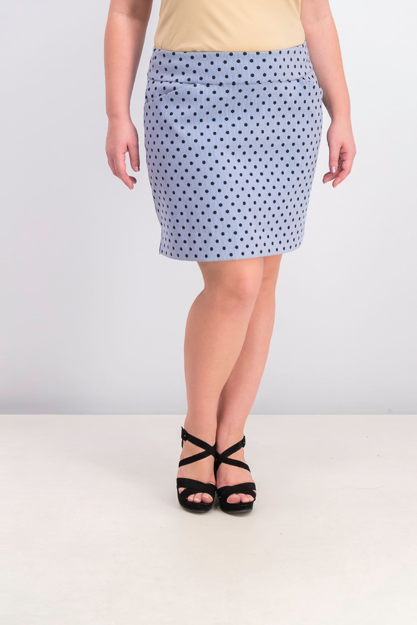 Women's Dotted Pull-on Skort, Intrepid Blue Combo