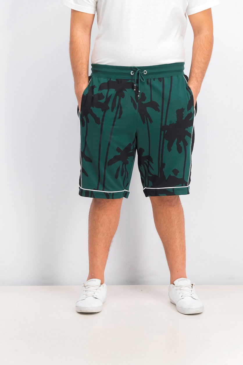 Men's Palm-Tree Graphic Shorts, Rain Forest