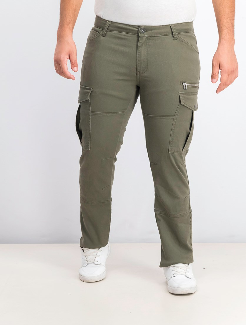 Men's Slim-Straight Fit Cargo Pants, Tank