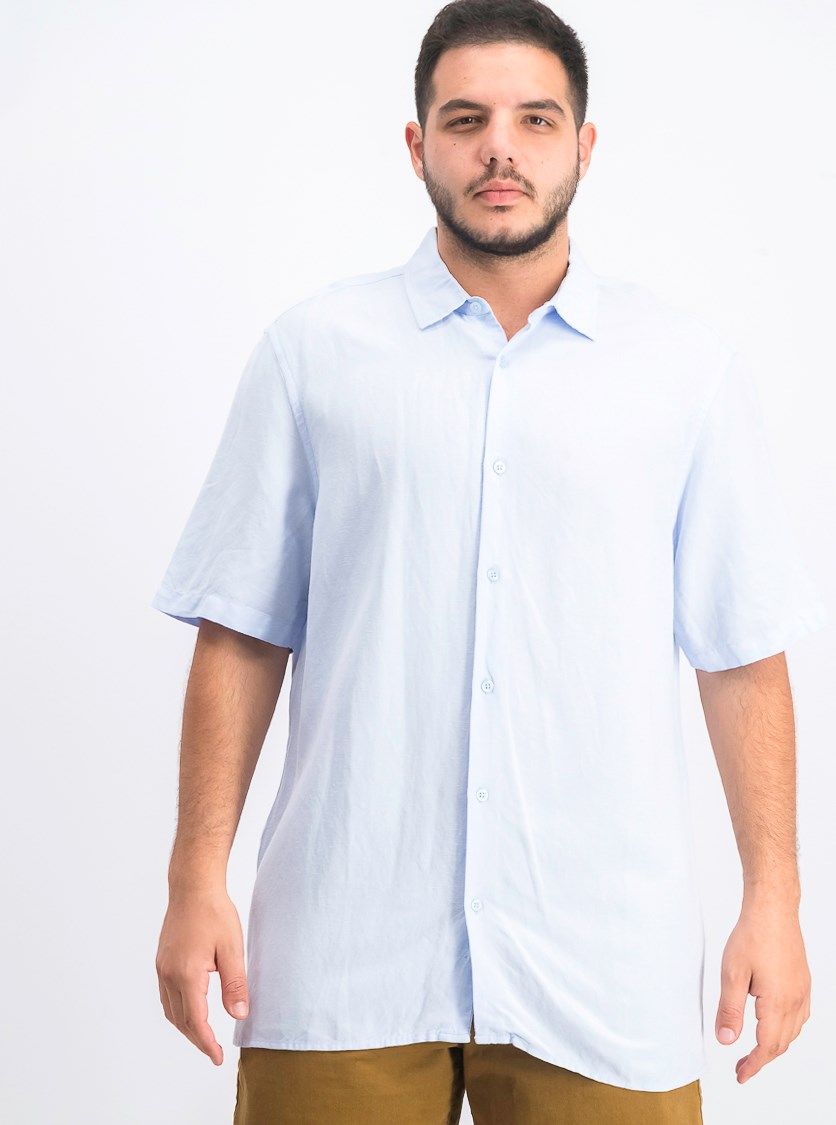 Men's Lagoon Stretch Linen Blend Shirt, Soft Shore