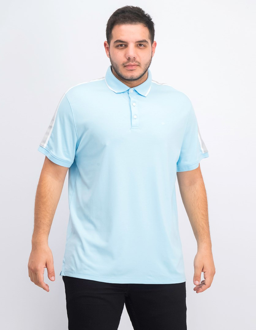 Men's Tipped Liquid Touch Polo, Bright Ice