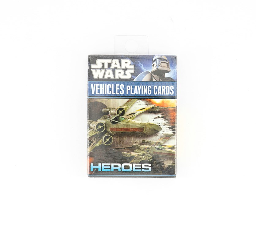 Heroes Vehicles Playing Cards, Black Combo