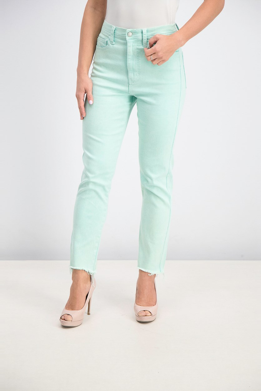 Womens Cropped Molly Skinny Jeans, Minty