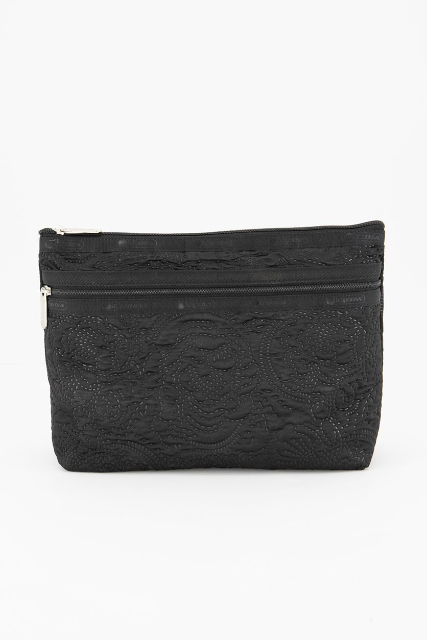 Taylor Large Top Zip Cosmetic Case, Black
