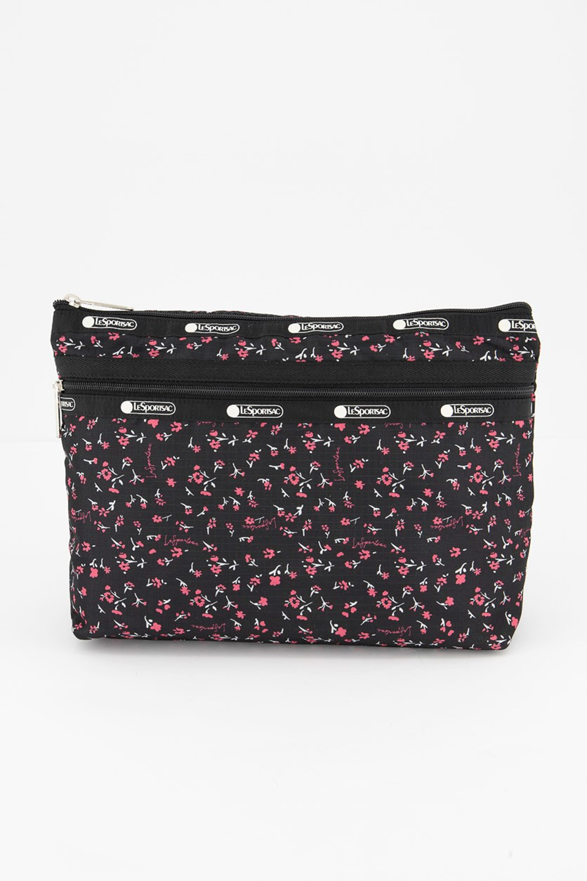 Taylor Large Top Zip Cosmetic Pouch, Ditsy Floral
