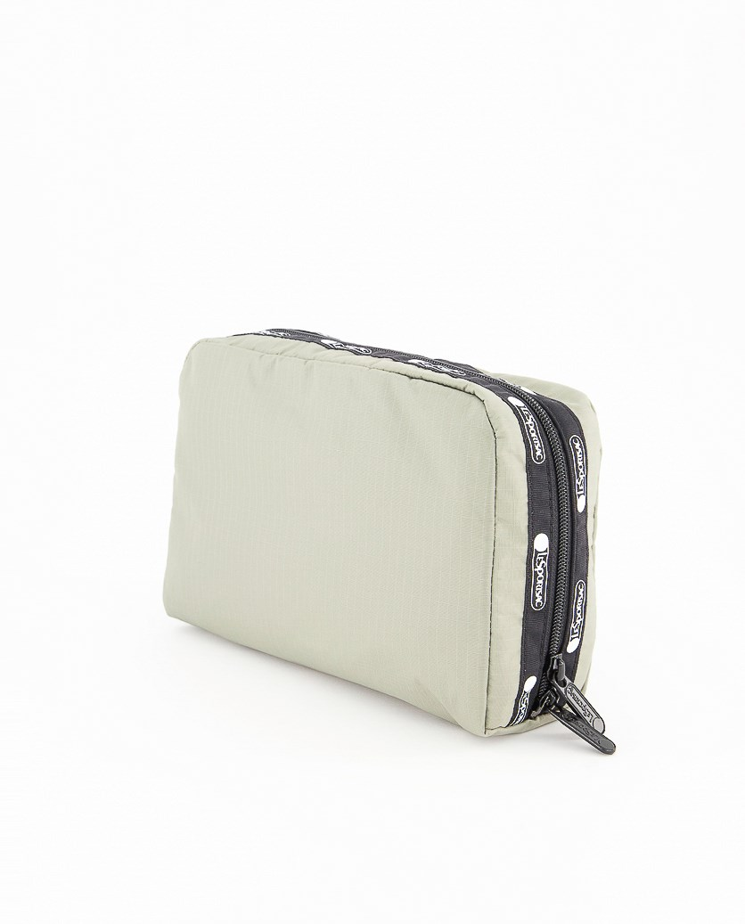 Candace Large Top Zip Cosmetic Case, Matcha