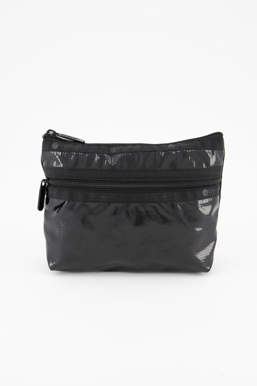Women's Small Cosmetic Case, Noir Patent